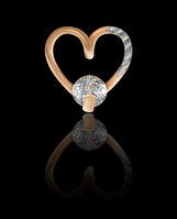 Золотой Кулон Сердце.(1,3)