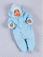 """Комбинезон для новорожденных """"Королевский"""" на выписку из роддома. Голубой, фото 1"""