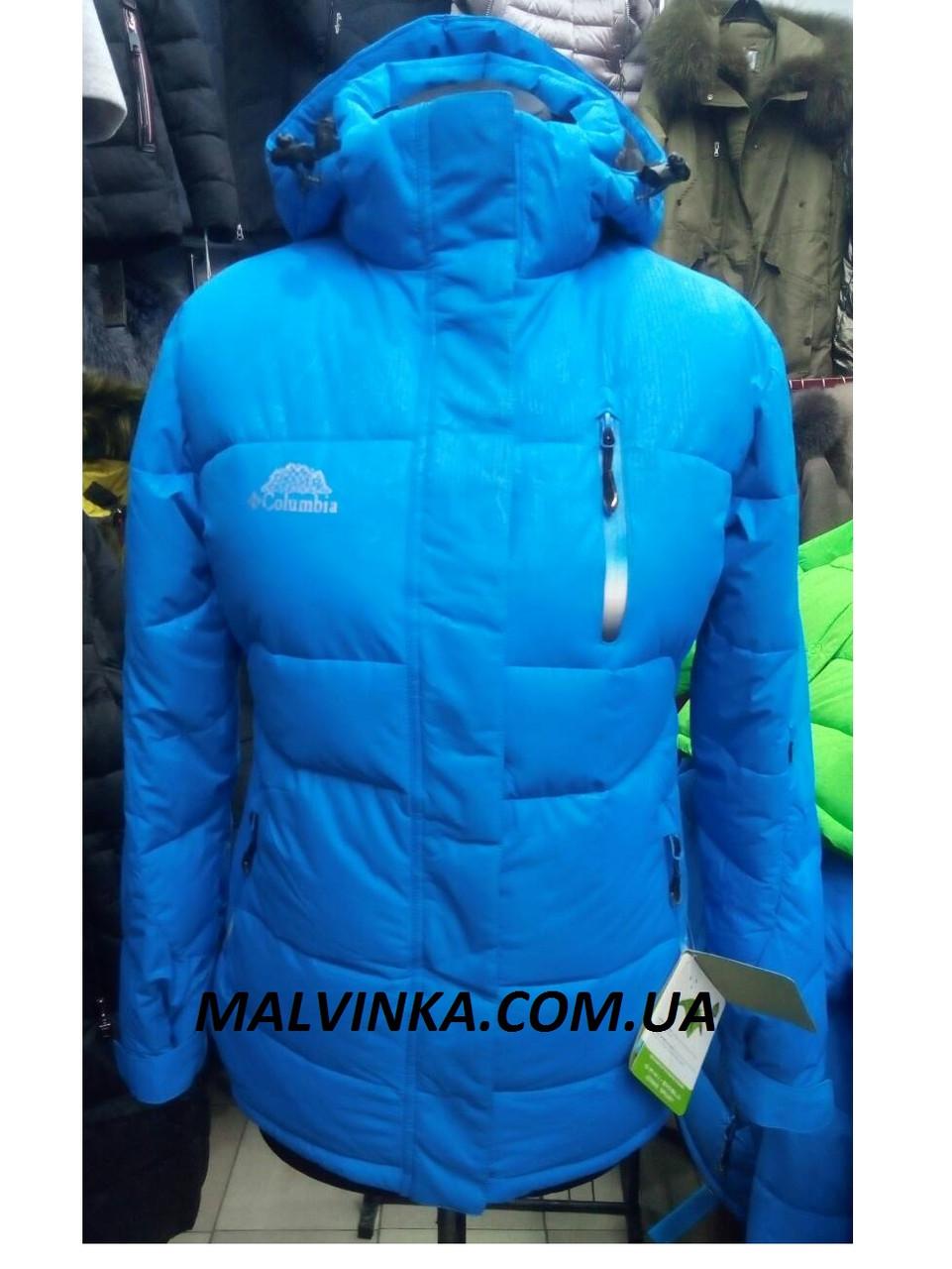 Куртка горнолыжная Columbia арт 858 S р синяя.