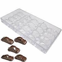 Машинки  поликарбонатная форма для шоколадных конфет, фото 1