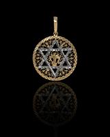 Золотой Кулон Маген Давид (2,6)
