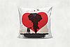 Подушка декоративная с принтом Дружба