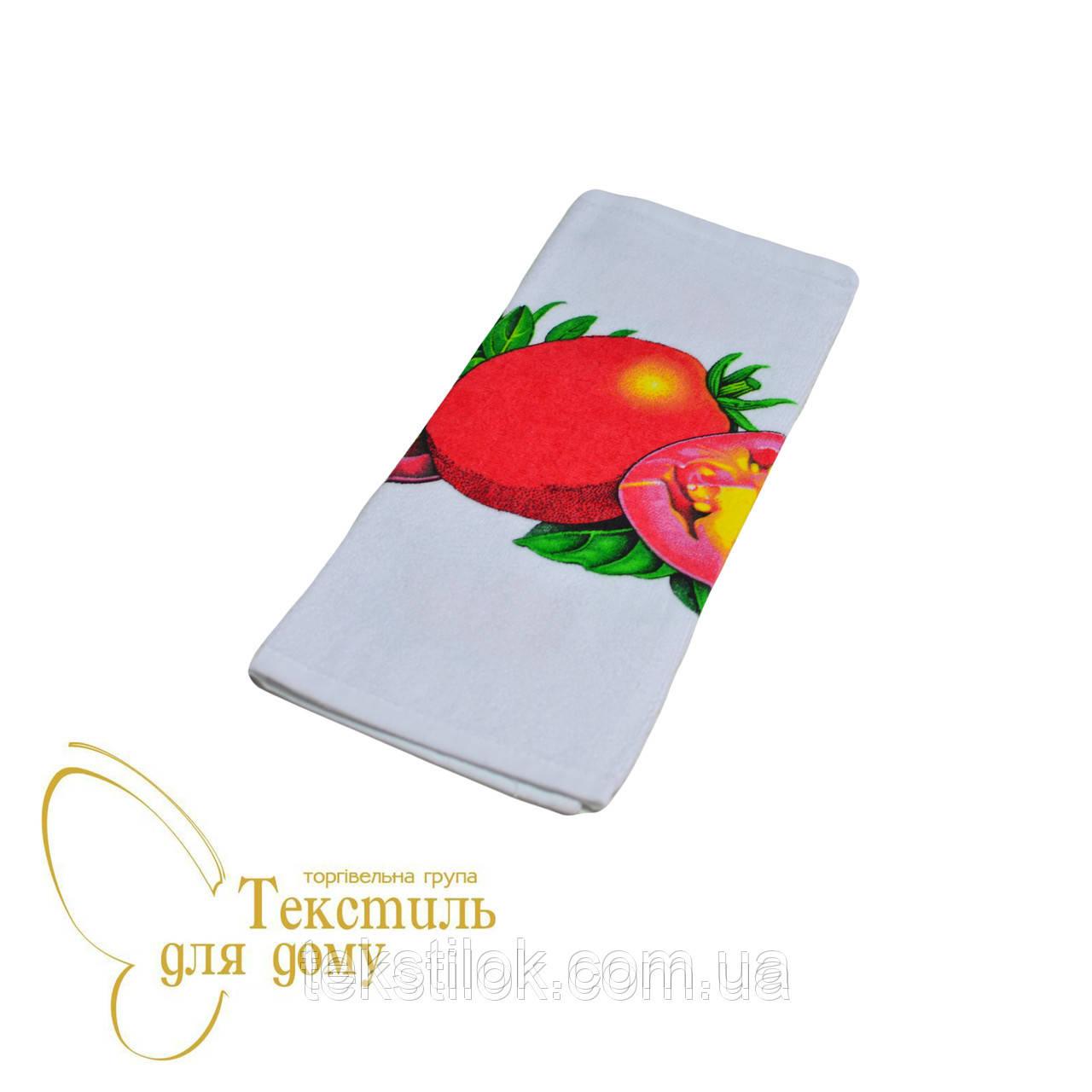 Полотенце кухонное махровое 30*50 фрукты