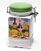 Банка керамическая на затяжке 1040мл Cheese&Wine BonaDi DU024-1-W