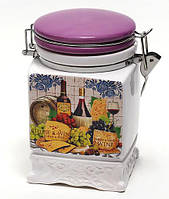 Банка керамическая на затяжке 840мл Cheese&Wine BonaDi DU024-2-W