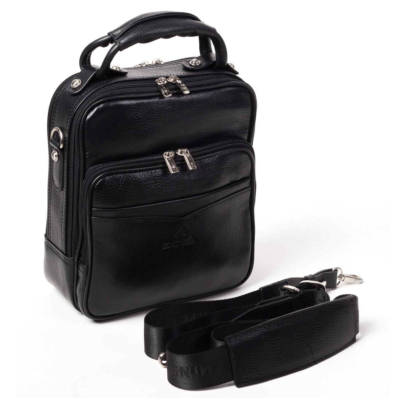 Мужская сумка кожаная черная Eminsa 6006-18-1
