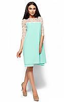 S, M / Вечернее стильное гипюровое платье Natty, бирюзовый S