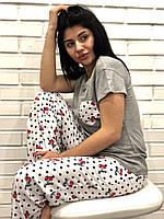 Пижама женская с вишенками, фото 1