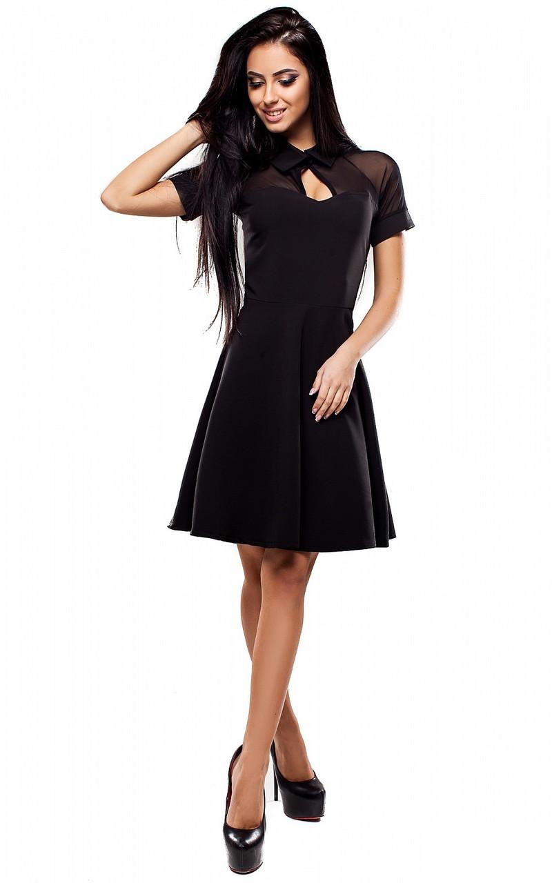 S, M / Женское классическое платье Arkinston, черный Офисное платье, S, 42-44