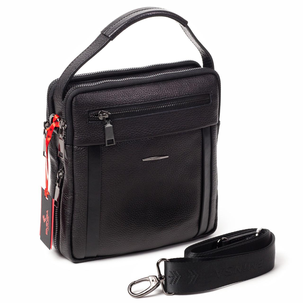 069c44823486 Мужская кожаная сумка черная Eminsa 6136-37-1 - FainaModa магазин кожаных  изделий в