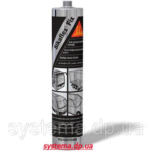 Sikaflex-Fix - Универсальный полиуретановый клей-герметик, однокомпонентный, черный, 310 мл.