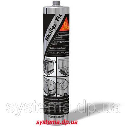 Sikaflex-Fix - Универсальный полиуретановый клей-герметик, однокомпонентный, черный, 310 мл., фото 2