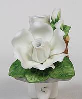 Фарфоровый арома-светильник Гардения