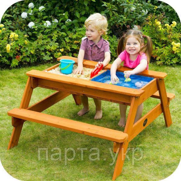 Стол с лавочками для игр с песком