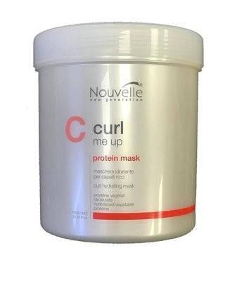 Маска питающая для поврежденных волос Nouvelle Curl Me Up Protein Mask 1000 мл, фото 2