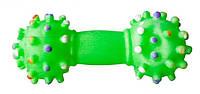 Игр.Гантель резиновая цветная с шипами 19-25 70гр
