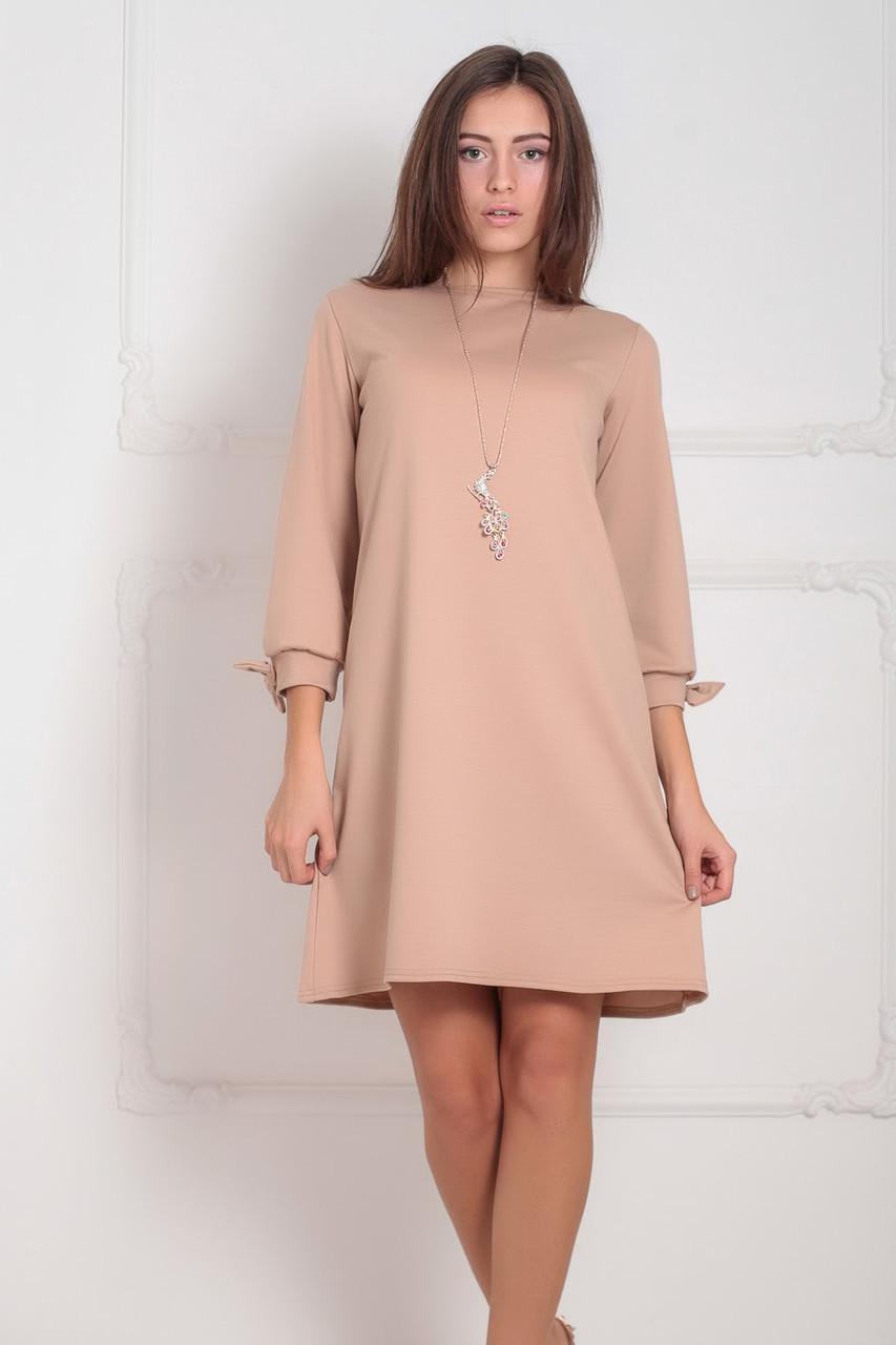 S, M, XXL / Классическое женское платье Riana, бежевый XXL