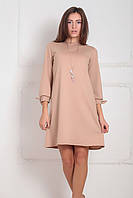 S, M, XXL / Классическое женское платье Riana, бежевый XXL, фото 1