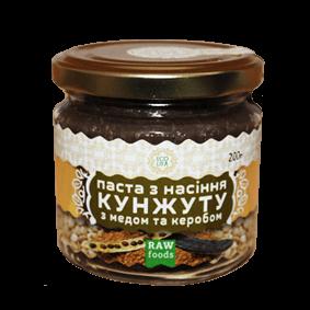 Паста из семян кунжута с мёдом и кэробом 200 г, Ecoliya