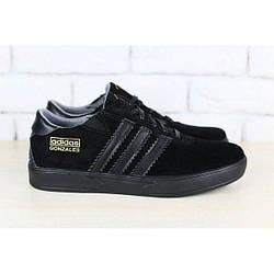 Мужские кроссовки, черные, из натуральной замши, с кожаными вставками, на шнурках 42