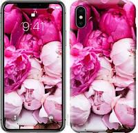 """Чехол на iPhone X Розовые пионы """"2747c-1050-16132"""""""