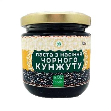 Паста из семян черного кунжута 200 г, Ecoliya