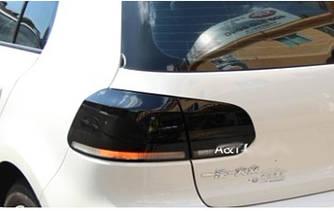 Фонари Volkswagen Golf 6 тюнинг Led оптика стиль R20 (черные)