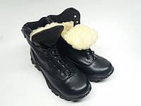 Зимние Черные Мужские ботинки - натуральная кожа Полуботинок Energy