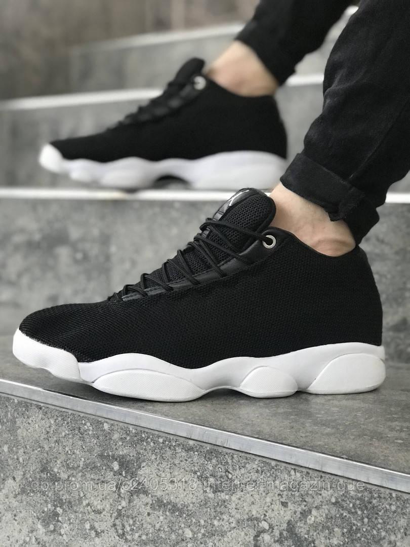 2b6a561fdc95 Мужские кроссовки Jordan Horizon Low (реплика) черные с белым -  Интернет-магазин
