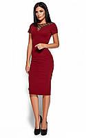 S, M, L, XL / Облегающее изящное классическое платье Valia, марсала, фото 1