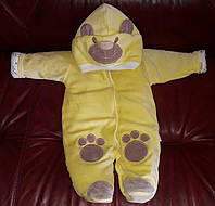 """Комбинезон для новорожденных """"Панда"""" на выписку из роддома. Желтый, фото 1"""