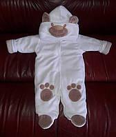 """Комбинезон для новорожденных """"Панда"""" на выписку из роддома. Белый, фото 1"""
