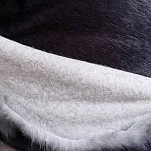 Мех искусственный норка леопард серая, фото 2