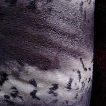 Мех искусственный норка леопард серая, фото 3