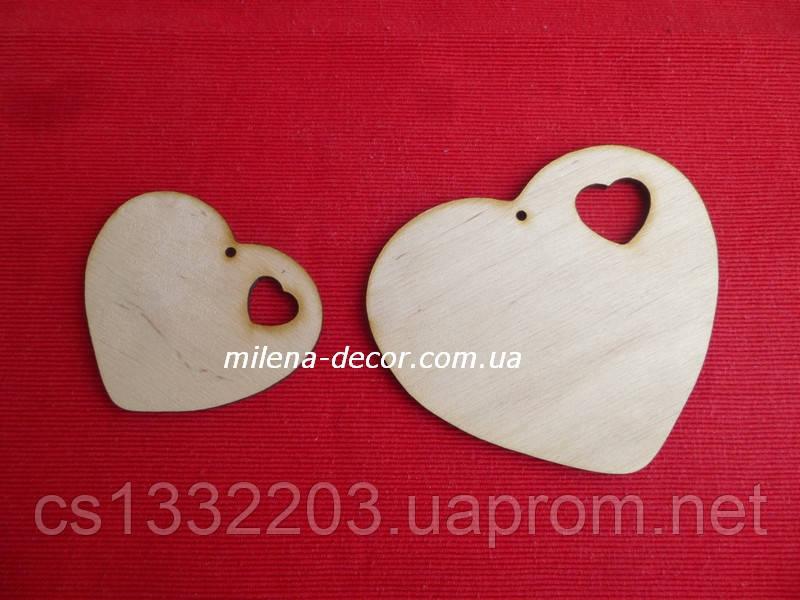 Сердце с вырезом - большое 10*12см (фанера)