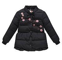 Куртка для девочки демисезонная черная