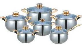 Набор посуды 12 предметов ( Набор кастрюль ) MR 3006