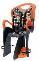 Сиденье задн. BELLELLI Tiger Clamp детское до 22кг (черно-белый с красн подкладкой) крепится на багажник