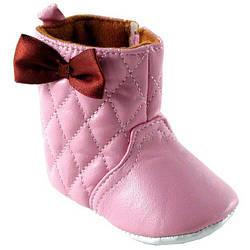 """Пінетки """"Стьобані чобітки"""" 12-18 міс, Luvable Friends (США) рожеві"""