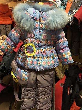 Детский зимний комплект для девочки с рюкзаком Кико  3355, на рост 80-104, фото 2