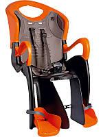 Сиденье задн. BELLELLI Tiger relax  детское до 22кг (черно-оранж с оранжевой подкладкой)
