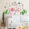 """Интерьерная виниловая наклейка на стену """"Фламинго"""""""