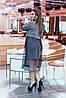 Элегантное нарядное сверкающее платье с пришивной фатиновой юбкой клеш, фото 8