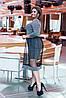 Элегантное нарядное сверкающее платье с пришивной фатиновой юбкой клеш, фото 10