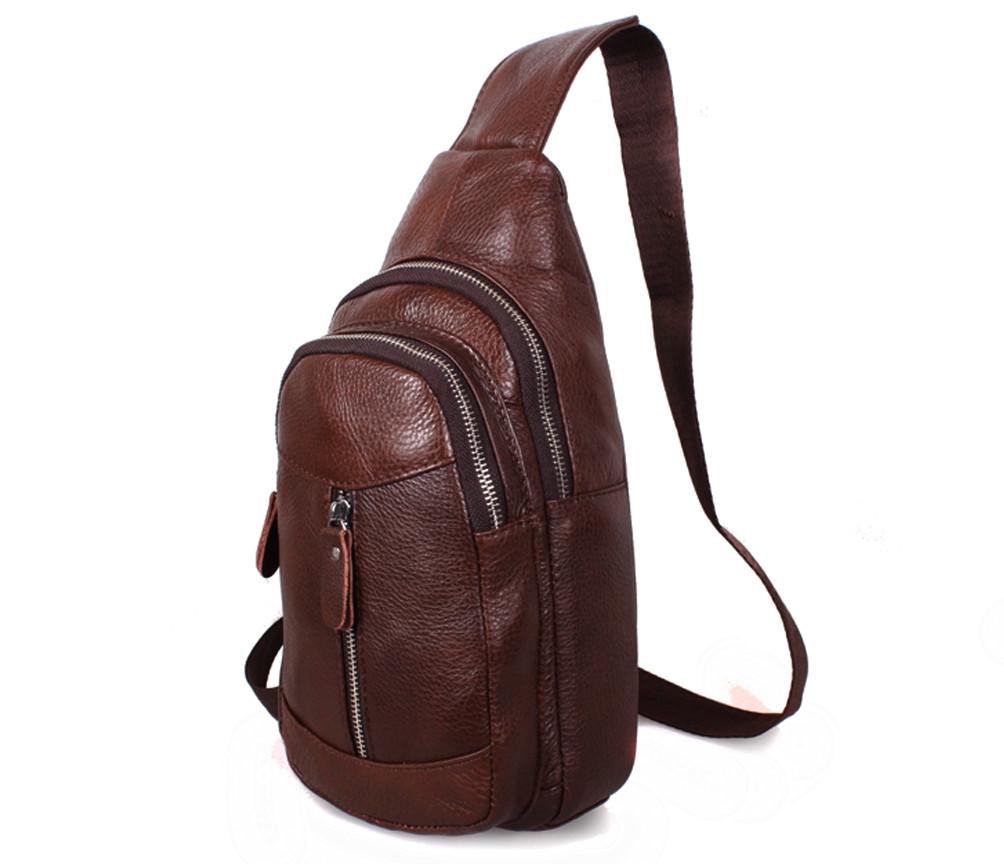b57367abd881 Наплечная мужская кожаная сумка коричневая RT-318-1BR: 34 $ - Сумки ...