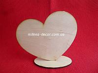 Сердце с наклоном (фанера) 10*12см