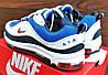 Мужские синие с белым кроссовки Nike Air Max Supreme 98, фото 4