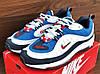 Мужские синие с белым кроссовки Nike Air Max Supreme 98, фото 3