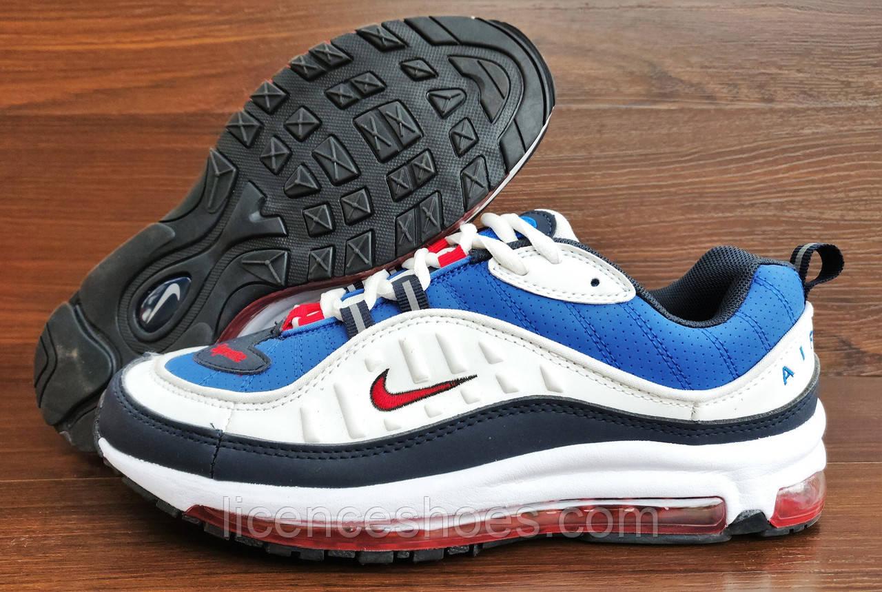 Мужские синие с белым кроссовки Nike Air Max Supreme 98