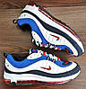 Мужские синие с белым кроссовки Nike Air Max Supreme 98, фото 5